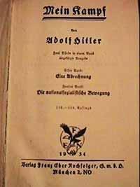 Книга Гитлера Mein Kampf