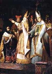 Коронация Карла Великого в 774 году на королевство лангобардов
