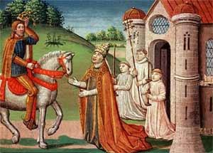 Встреча Карла Великого с папой Адрианом I возле ворот Рима