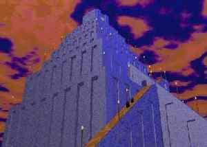 Компьютерная модель Вавилонской башни