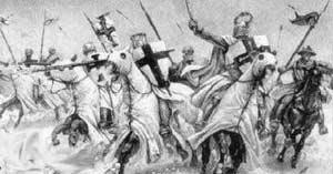 Атака немецких рыцарей
