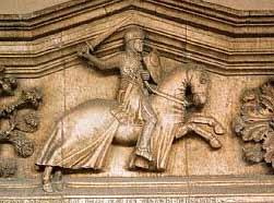 Средневековый барельеф с изображением Ричарда I